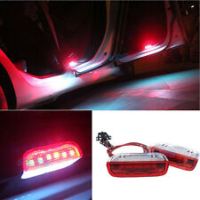 2Pcs Red & White Led Door Courtesy Light For VW Golf GTI Passat B6 B7 Jetta MK5