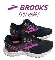 Brooks Adrenaline GTS 19 Women's Running Shoes Black / Purple Coral Size 7 M Us