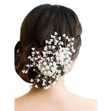 Crystal Flower Faux Rhinestone Wedding Bridal Flower Hair Clip Hairpin Part L3K8
