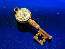 St Benedict Medal Key Silvertone Coppertone