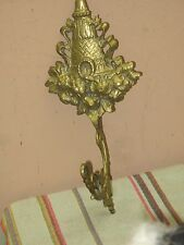 "Vintage Ornate Gold Gilt Metal Wall Decor Art Deco 4.5"" x 10"""