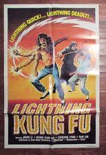 1980 LIGHTNING KUNG FU 1-SH Movie Poster 27x40 FVF Ka-Yan Leung, Sammo Kam-Bo Hu