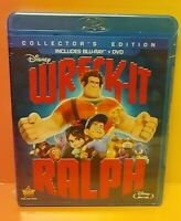 Wreck-It Ralph (Blu-ray, DVD, Collector's Edition) Brand New Sealed 2 Disc Pack