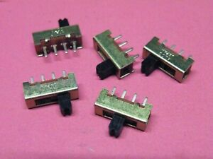 5 Pcs Miniature Slide Switch 1P 3 Position on-on-on  Model Engineering EA18