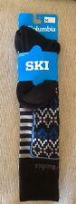 COLUMBIA SKI SOCKS Black/Super Blue Med UNISEX Male Size 6-9, Female 8-11.5, NEW