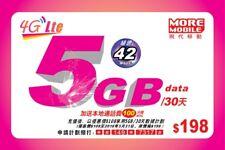 Hong Kong 30 Days 42Mbps 5GB 4G Data + 100 Mins Local Call Sim Card