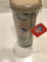 NFL  AFL  Set of 2 Pillowcases. with team logos. In Cylindrical  case. NWT
