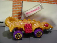 2018 DINO RIDERS Design FANGSTER☆gold/magenta; 5sp purple☆LOOSE Hot Wheels