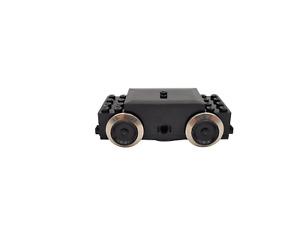 Lego 9V Eisenbahn Waggon Grundplatte 6x24 schwarz Achsen Kupplungen Drehplatten