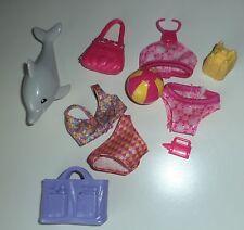 BARBIE Swim Suits & Dolphin Sand Castle Ball Tote Purse Beach Fun 9 pc Set 9