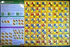 A  Children's magnetic RUSSIAN ALPHABET Русский Алфавит 64 буквы / letters