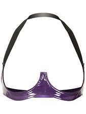 PVC Saucy Open Bra Purple One Size
