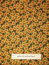 Daisy Flower Fabric ~ 100% Cotton By The Yard ~ Color Burst #0375D Pretty Floral