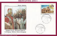 W469 VATICANO FDC ROMA GIOVANNI PAOLO II WOJITYLA VISITA ORURO BOLIVIA 1988