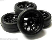 Neumáticos, llantas y bujes rueda de color principal negro para vehículos de radiocontrol