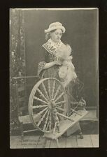 France Social History Cottage Industry SPINNING La Bayeusaine Jeune Fille PPC