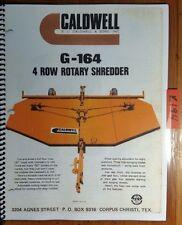 Caldwell G-164 4 Row Rotary Shredder Parts Manual 120-2043 12/68