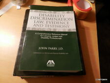 Discrimination Disability Law, Evidence, Testimony by John Parry (2009, Paperbac