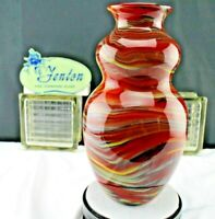 """FENTON Art Glass 2006 Connoisseur Vase By Dave Fetty """"Crayons"""" is #385 of 750"""