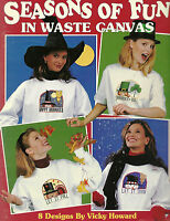 Seasons of Fun In Waste Canvas Cross Stitch Patterns Holidays Snow Spring Fall