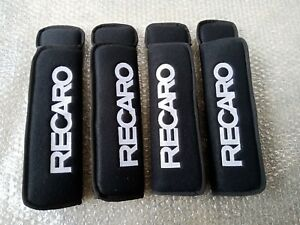 RECARO Embroidered Seat Belt Shoulder Black Cover Pads 2SETS