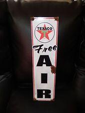 Antique style-porcelain look Texaco star Free Air oil dealer gas pump sign Nice