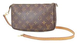 Auth LOUIS VUITTON Accessory Pochette Monogram Shoulder Bag #38357