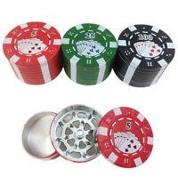 Poker Kleine Mühle Kunststoff Schleifen Zigarre Tabak Box Grinder Zinc  Neu B3P3
