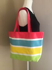 CHI Multicolor Tote Beach Bag Large Women's Girls Shoulder Purse NEW