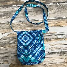 Quilted Fabric Crossbody Messenger Mail Purse Handbag Bag Tie Dye Coachella