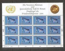 UN SC #  NY 816, Geneva 384, Vienna 301 Nobel prize 2001 Kofi A. Annam .Folders.