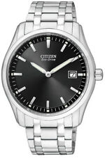 AU1040-59E,CITIZEN Eco-Drive Watch,240Day Power Reserve, St/Steel, WR, Date,Mens