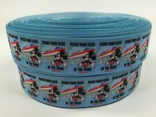 "BTY 1"" Disney Mickey Monorail Grosgrain Ribbon Scrapbook Lanyards Lisa"