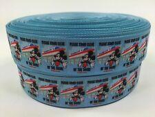 """BTY 1"""" Disney Mickey Monorail Grosgrain Ribbon Scrapbook Lanyards Lisa"""