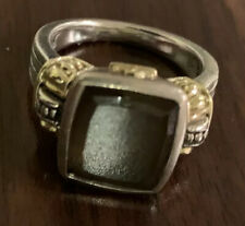 Lagos Caviar 18k Gold & Sterling Silver Smokey Topaz Ring, Size 7