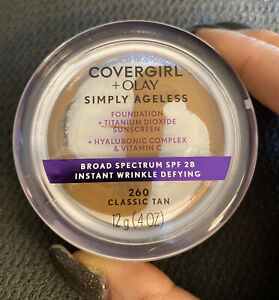 Covergirl + Olay Simply Ageless Foundation SEALED  260 classic tan