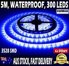 12V Bright Blue Waterproof Flexible LED Strip Lights 5M 300 LEDs 3528 SMD Light