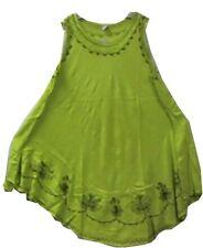 Women Clothing Sundress Summer Beach Sun Dress Green Free Size