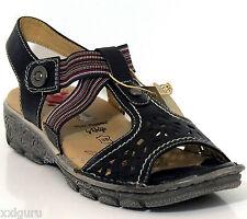 Hush Puppies sandalia 38 cuero Deck suela negro zapato touchme Relife elástico nuevo