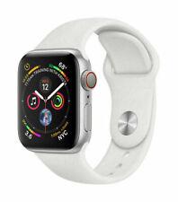 Reloj de Apple serie 4 40mm Gps + Celular 4G LTE-color blanco plateado banda de deporte