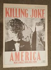 America Killing Joke 1988 Presse Werbeanzeige Volle Page 30 X 42 cm Mini Poster