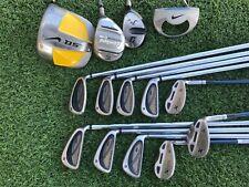 New listing Complete Mens Golf Club Set Nike SQ Driver, Wilson Fat Shaft Irons R-Flex 14 Pcs