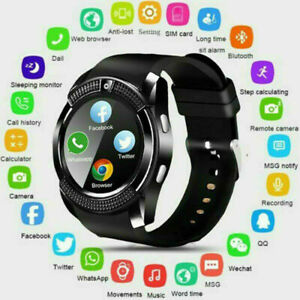 V8 Bluetooth Smart Watch GPS Waterproof SIM Camera WristWatches For Android IOS