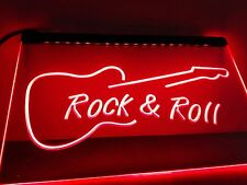 Rock And Roll Guitar Music Led Neon Light Sign Home Bar Pub Decoration Craft