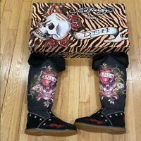 ed hardy snow blazer nylon boots