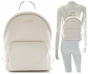 Michael Kors Erin Medium Pebbled Leather Backpack Light Cream NWT$398.00