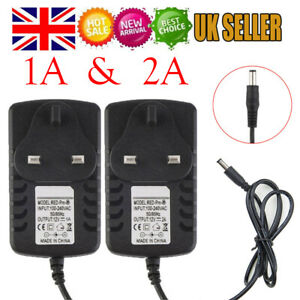 AC DC 12V 1A, 2A POWER SUPPLY ADAPTER CHARGER FOR CAMERA / LED STRIP LIGHT CCTV