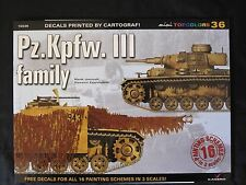 Kagero: Pz.Kpfw. III family - 16 pg  color profiles of featured tanks w DECALS