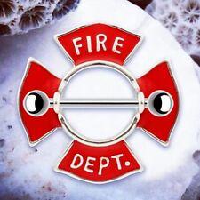 Amber | Fire Department Nipple Bar Nipple Bars Nipple Ring Nipple Rings Shield