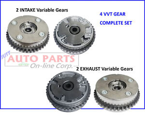 4 VARIABLE CAM PHASER Actuator fit CADILLAC CTS STS ATS SRX XTS G6 V6 3.0L 3.6L